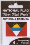Antigua & Barbuda Country Flag Tattoos.